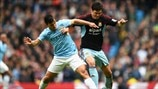 Sergio Agüero (Manchester City FC) & James Tomkins (West Ham United FC)