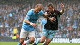 Pablo Zabaleta (Manchester City FC) & George McCartney (West Ham United FC)