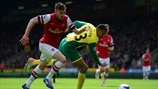 Aaron Ramsey (Arsenal FC) & Martin Olsson (Norwich City FC)
