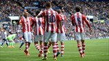 Stoke City FC players celebrate