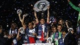 Paris Saint-Germain players celebrate