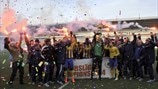 FK Ventspils title celebrations