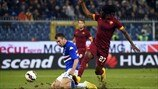 Vasco Regini (UC Sampdoria) & Gervinho (AS Roma)