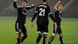 FC Shirak players celebrate