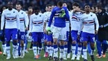 UC Sampdoria players react