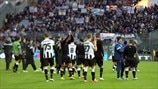 Udinese Calcio players gesture