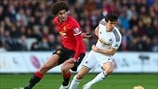 Marouane Fellaini (Manchester United FC) & Jack Cork (Swansea City AFC)