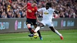 Phil Jones (Manchester United FC) & Bafétimbi Gomis (Swansea City AFC)