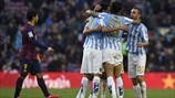 Málaga CF players celebrate