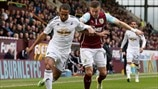 Wayne Routledge (Swansea City AFC) & Michael Kightly (Burnley FC)