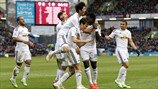Swansea City AFC players celebrate