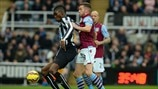 Sammy Ameobi(Newcastle United FC) & Tom Cleverley (Aston Villa FC)