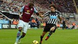 Christian Benteke (Aston Villa FC) & Fabricio Coloccini (Newcastle United FC)