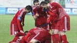 FC Volyn Lutsk celebrate