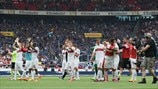 VfB Stuttgart players celebrate
