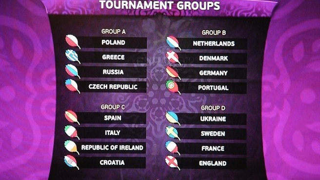 EURO finals schedule confirmed