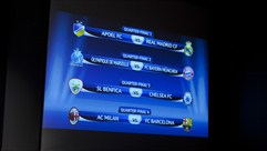 Milan-Barça takes top billing in quarter-final draw