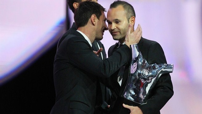 Andrés Iniesta & Lionel Messi (UEFA Best Player in Europe Award)