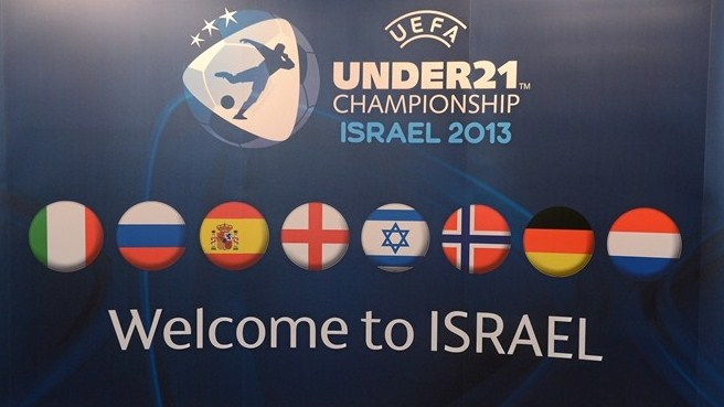 UEFA European Under-21 Championship finals draw signage