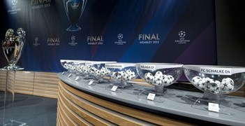 UEFA Champions League round of 16 draw hall stage