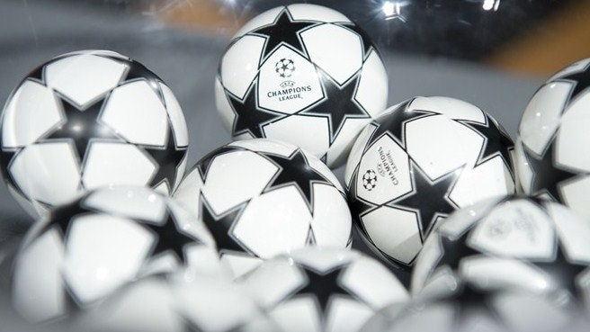 UEFA Champions League round of 16 draw balls