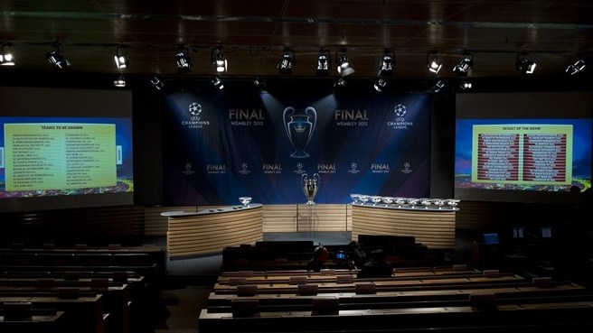 UEFA Champions League round of 16 draw hall