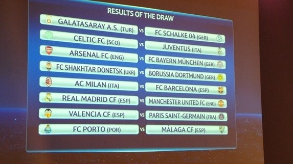 Barcelona draw Milan, Ronaldo to face United