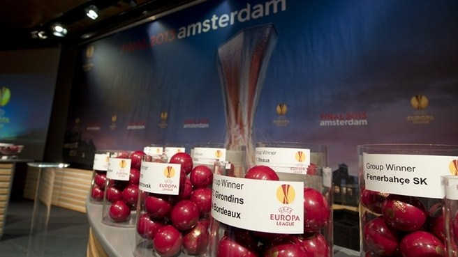 UEFA Europa League round of 32 draw pots and balls