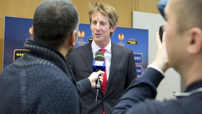 Edwin van der Sar (UEFA Europa League round of 32 and 16 draws)