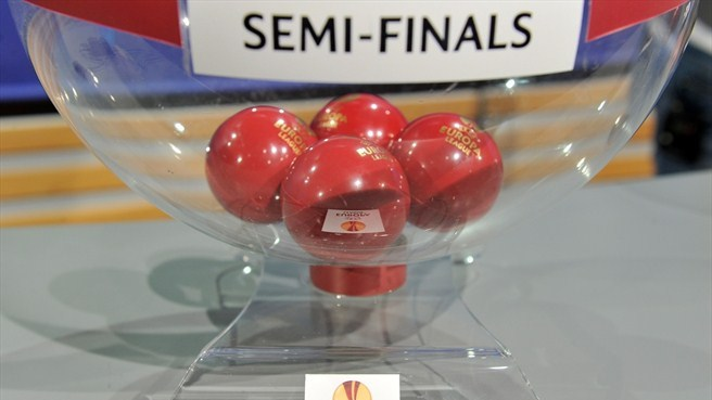 UEFA Europa League semi-final draw balls and pot