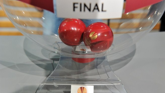 UEFA Europa League final draw balls and pot
