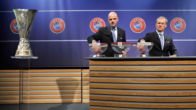 Gianni Infantino (UEFA Europa League third qualifying round draw)