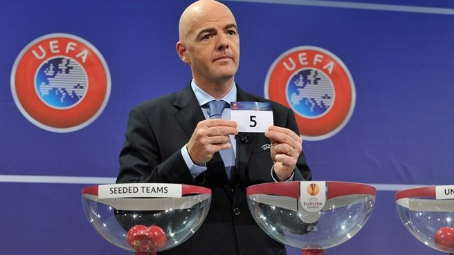 Gianni Infantino (UEFA Europa League play-off draw)