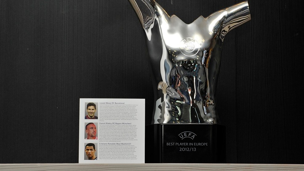 UEFA Best Player In Europe Award Trophy Champions League Group Stage Draw