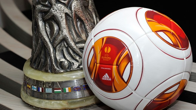 UEFA Europa League trophy and match ball