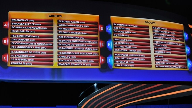 UEFA Europa League group stage draw