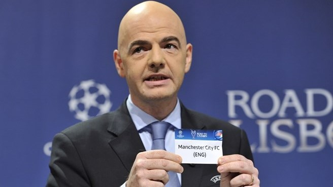 Gianni Infantino (UEFA Champions League round of 16 draw)