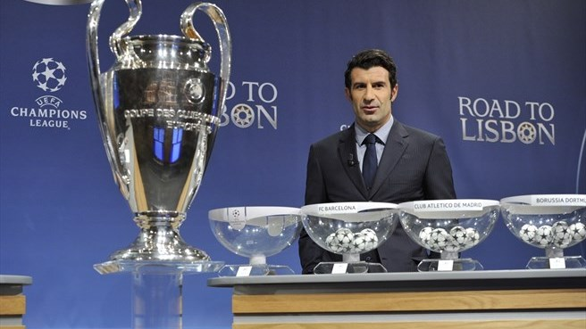 Luís Figo (UEFA Champions League round of 16 draw)