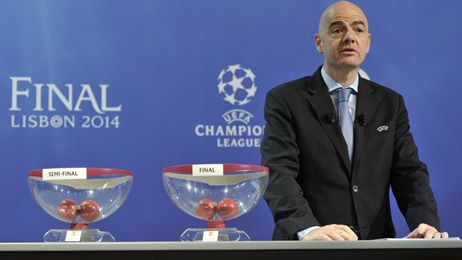 Gianni Infantino (UEFA Europa League semi-final draw)