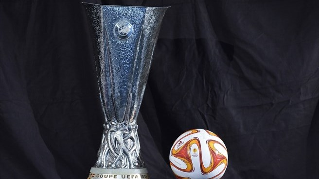 UEFA Europa League trophy and 2014/15 match ball
