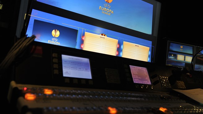 Backstage at the UEFA Europa League group stage draw