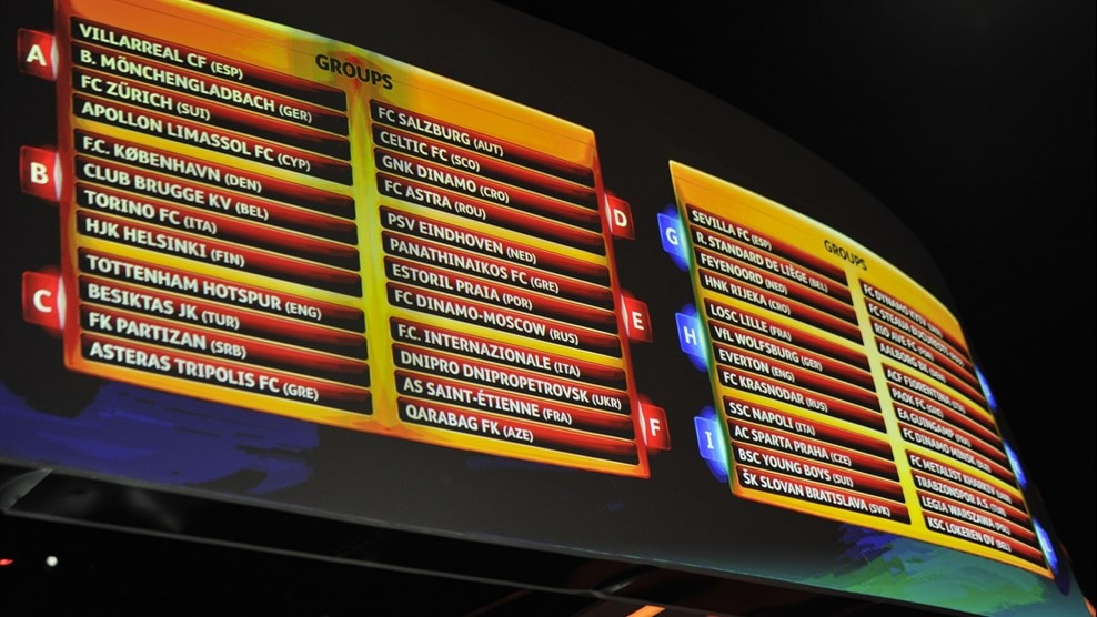 europa league group stage fixtures