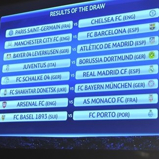 Champions league round of 16 draw uefa champions league news image by