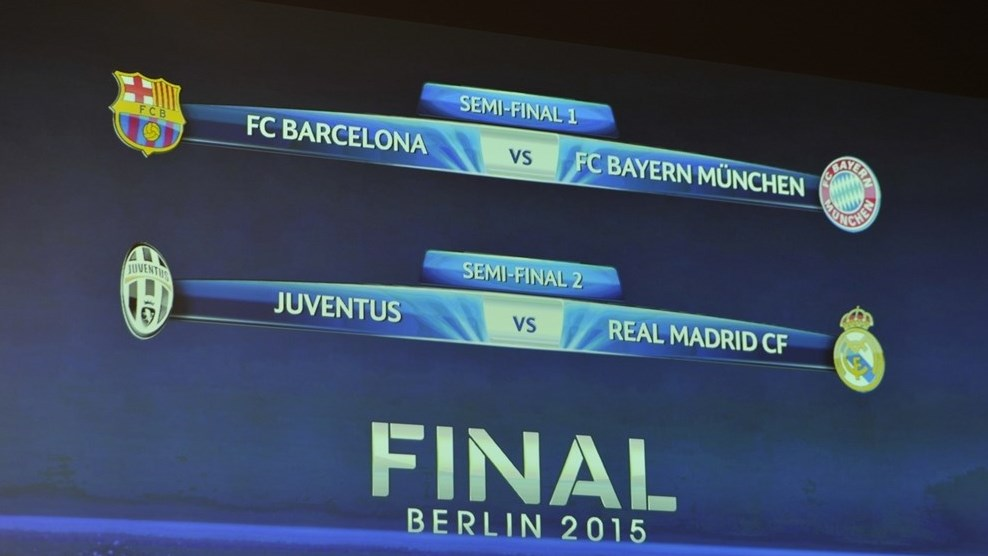 when is the champions league semi final draw