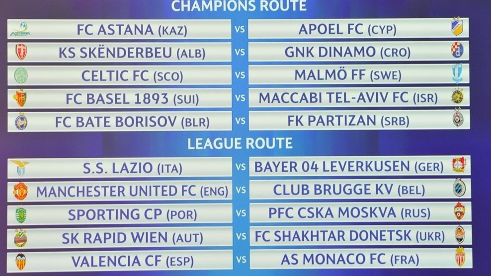 uefa champions cup results