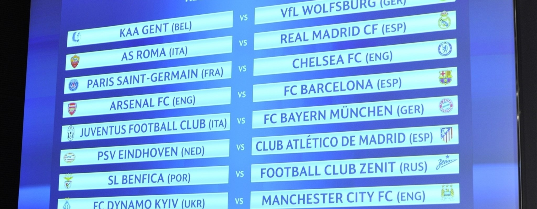 Barcelona meet Arsenal: round of 16 draw in full