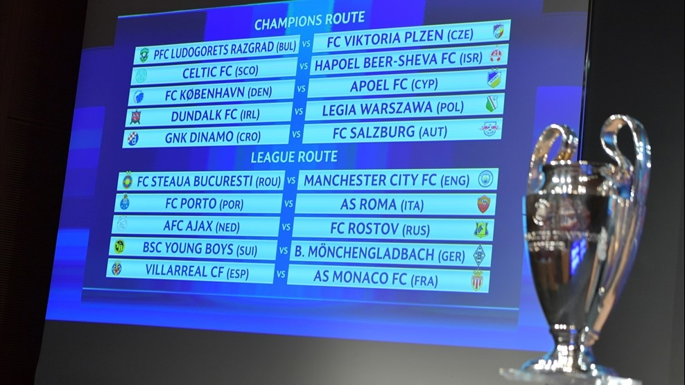 Champions League play-off draw made - UEFA Champions ...