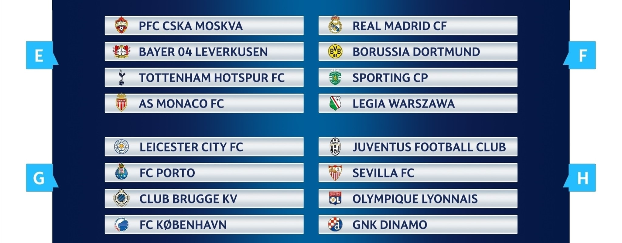 Group stage games confirmed: diary dates