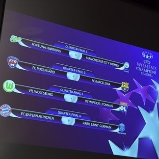 UEFA Women's Champions League quarter-final & semi-final draws