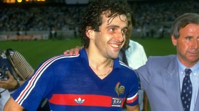Platini reunited with class of '84